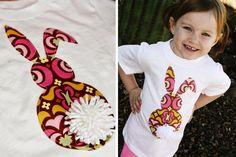 Easter Bunny Applique T-Shirt for Kids