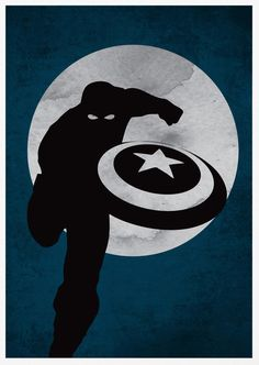 Captain America Poster A3 Print by sanasini on Etsy, $18.00