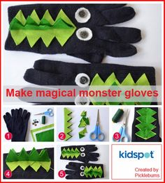 Easy craft: Make a pair of magical monster gloves - Kidspot