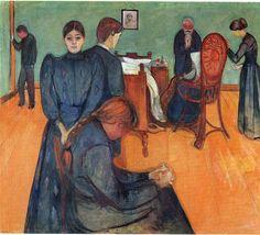 Edvard Munch (Norwegian, 1863-1944) | Death in the Sickroom, 1893