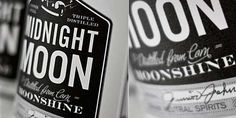 Alcoholic Moonlit Packaging - The Midnight Moon Moonshine Bottles are Dark and Mysterious (GALLERY)