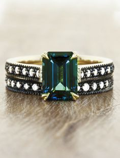 Check out these beautiful, colorful engagement rings for bold brides | Patricia Leung/Ken & Dana Design in NYC