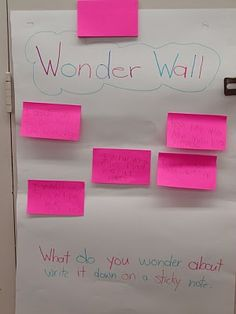 Great for when you kiddos asks a really great questions you just don't know the answer to. They can post it and you won't forget to figure it out as a class or when you have free time.