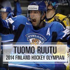 Tuomo Ruutu - 2014 Finland Hockey Olympian