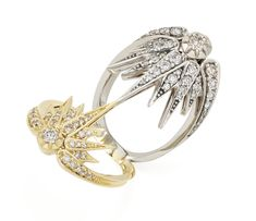 Genesis H.Stern collection. Eclipse ring in yellow and Noble Gold with diamonds.