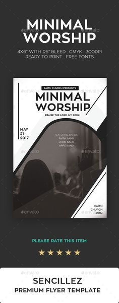 Minimal Worship Flyer #music #clean  • Download here → https://graphicriver.net/item/minimal-worship-flyer/19981950?ref=pxcr