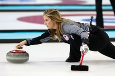 Team Canada skip Jennifer-Jones delivers the rock during the first day of curling training at the 2014 Winter Olympics in Sochi, Russia, Saturday, Feb. Olympic Team, Olympic Games, Canada Cup, Theme Sport, Jennifer Jones, Latest Sports News, Winter Olympics, Vancouver Island, Female Athletes