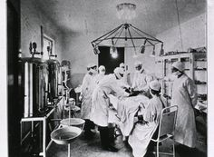 Sydney B. Flower - The operating room at The Brinkley Hospital, 1921.