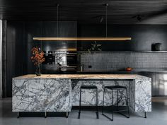 Hampden Road House by Archier - Project Feature - The Local Project - The Local Project Latest Kitchen Designs, Human Centered Design, Black Kitchens, Modern Kitchens, Interior Design Kitchen, Kitchen Living, The Locals, Interior Architecture, House Styles