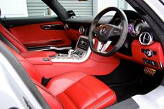 Mercedes Benz SLS 63 AMG 6.2 V8 *Iridium Silver + Designo Classic Red + B&O* | eBay