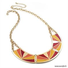 With this necklace you can easily put some color into your outfit!
