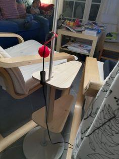 Mesa de apoio para candeeiro de pé