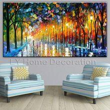 Colores la luz del árbol pintura de pared del arte en la lona para la decoración casera pintura al óleo artes No pared enmarcada pictures(China (Mainland))