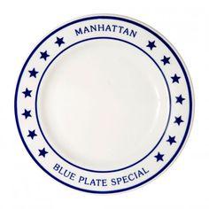 Manhattan Blue Plate Special Dinner Plate