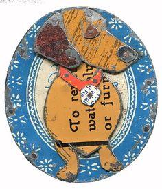 recycled tin dachshund pendant  via Jane Wells Harrison