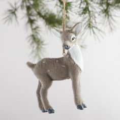 One of my favorite discoveries at WorldMarket.com: Fabric Deer Ornaments Set of 4