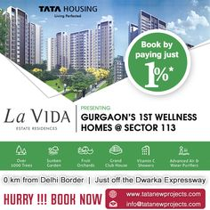 #TataLaVida, a mesmerizing housing option with ultimate unique amenities. To know more, http://checkthis.com/wzql