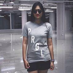 Tee Shirt PRGL Grey #model #fashion #indonesia #women #men