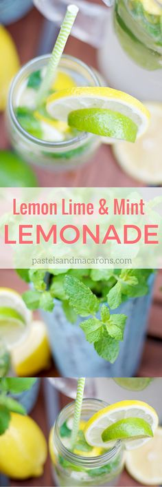 Lemon Lime And Mint Lemonade by Pastels & Macarons