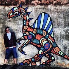 facter street art Valka Latvia Speaking with Facter