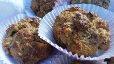 Muffins van havermouth met appel