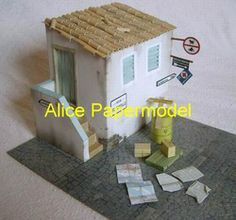 Online Shop [Alice papermodel]1:35 1:25 WWII Italy house scene structure models Aliexpress Mobile