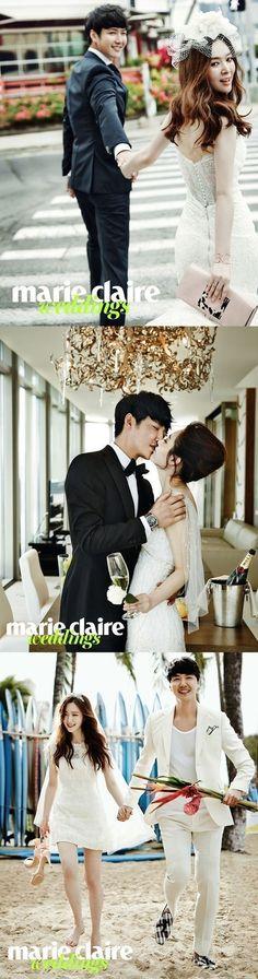 윤상현♥메이비, 로맨틱 웨딩 화보 공개..달콤 신혼여행 :: 네이버 TV연예
