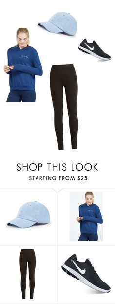 """""""monochromatic"""" by lindsayfulp on Polyvore featuring Sole Society, good hYOUman, Ryan Roche and NIKE"""