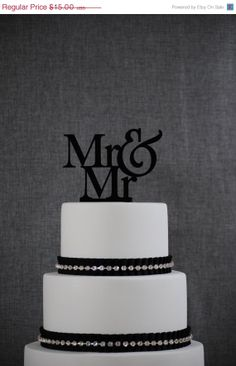 ON SALE Mr and Mr Same Sex Wedding Cake Topper by Chicago Factory on Etsy, $15.00