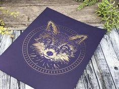 Fox Print 8x10 Fox Art / Metallic Foil Illustration Artwork / image 5 Wiccan Decor, Pagan Altar, Fox Totem, Wiccan Art, Witch Jewelry, Pagan Witch, Fox Print, Artwork Images, Witch Aesthetic