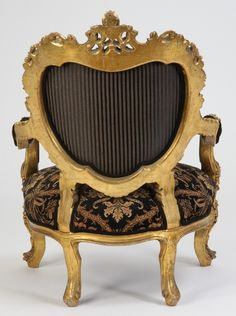 Lot: 139: 19th c. Italian Rococo giltwood arm chair, Lot Number: 0139, Starting Bid: $600, Auctioneer: Great Gatsby's Auction Gallery, Inc., Auction: Fine Antiques, Art, Rare & Fun Collectibles , Date: December 3rd, 2011 ICT