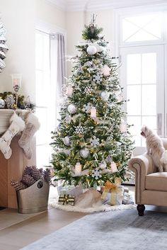37 Argent impressionnant et blanc d'arbre de Noël Idées de décoration & Inspirations - EcstasyCoffee