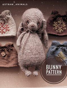 Crochet Rabbit, Crochet Toys, Knitting Patterns, Crochet Patterns, Crochet Ideas, Knitted Animals, Felt Toys, Beautiful Crochet, Stuffed Toys Patterns