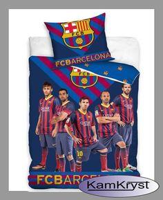 Pościel Barcelona Team 160x200 - nowy wzór pościeli kibica