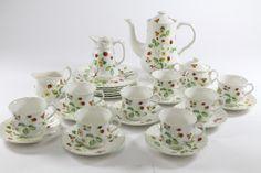 Porzellan Kaffeeservice mit polychromem Floraldekor James Kent England ~1970 | eBay
