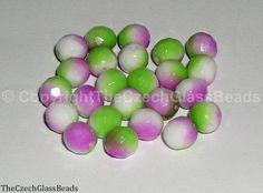 Czech Firepolished Beads 8mm 02010/95000