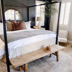 Home Bedroom, Bedroom Decor, Bedroom Inspo, Cozy Master Bedroom Ideas, Dark Master Bedroom, Apartment Master Bedroom, Canopy Bedroom, Master Bedroom Interior, Kids Bedroom