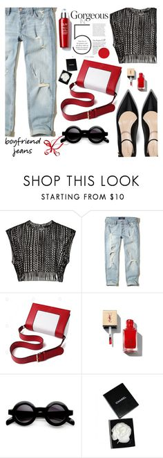 """""""boyfriend sexy...jeans"""" by nataskaz ❤ liked on Polyvore featuring Hollister Co., Yves Saint Laurent and Chanel"""