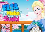 Elsa Make a Sushi