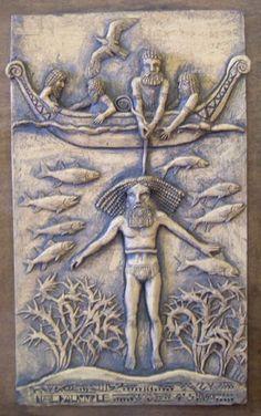 Utnapishtim, from the Mesopotamian flood myth. The biblical Noah is an analog of Utnapishtim, though the Sumerian/ Mesopotamian/Babylonian deluge story was written long before the Noah of the Torah.