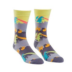 You're on a rampage and everybody's going to know it when you wear these bold crew socks.