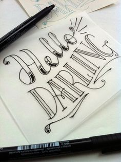 Hello Darling Postcard on Behance