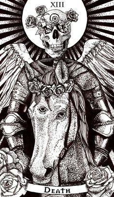 Death Tarot Card by Chelsea Monico on Behance