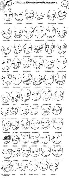 Espreç~es de anime tutoriais #anime #tutorial #faces