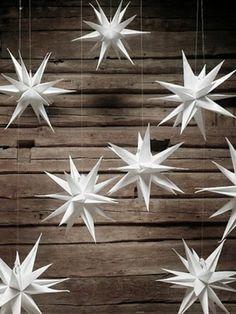 Weihnachtssterne basteln vorlagen kinder hängend deko                                                                                                                                                                                 Mehr