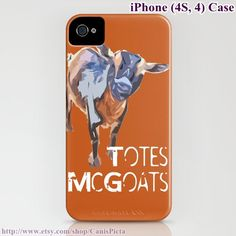 "Nigerian Dwarf Goat (Goats) iPhone Case Graphic Print (iPhone 5, 4, 4S, 3, 3GS) - ""Totes McGoats"""
