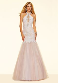Champagne+High+Neck+Lace+Trumpet+Mermaid+Prom+Dress+Cpa0169