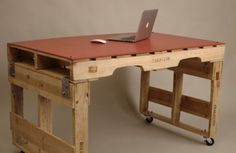 DIY Pallet Desks It's good to refresh your working space every now and then, it helps to keep the ideas…