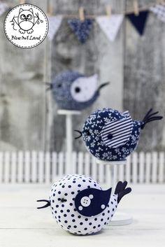 BIRDS SEWING PATTERN by BlueOwlLand