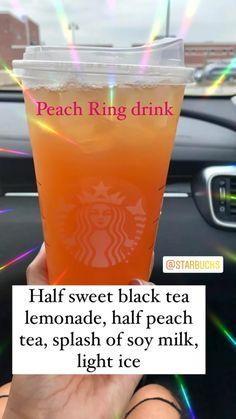 Starbucks Hacks, Starbucks Tea, Healthy Starbucks Drinks, Starbucks Secret Menu Drinks, How To Order Starbucks, Starbucks Pumpkin, Starbucks Pink Drink Recipe, Healthy Iced Coffee, Starbucks Refreshers